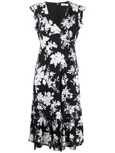 Michael Michael Kors платье с запахом и оборками