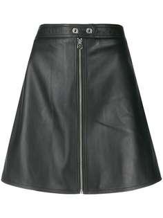 Calvin Klein юбка мини А-силуэта