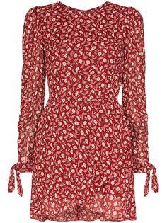 Reformation платье мини Lucita с запахом и цветочным принтом