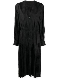 Joseph плиссированное платье на пуговицах