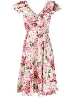 P.A.R.O.S.H. платье с V-образным вырезом и оборками
