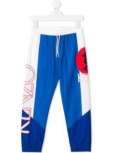 Kenzo Kids спортивные брюки Dragon с логотипом