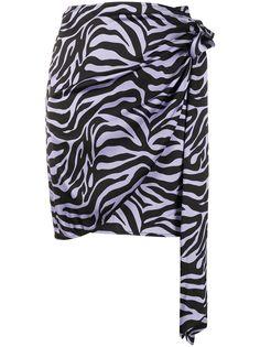 Andamane юбка с зебровым принтом и запахом