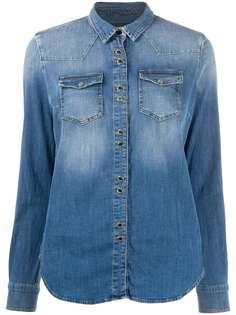 Pinko джинсовая рубашка с длинными рукавами
