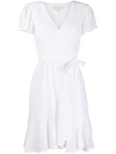 Michael Michael Kors кружевное платье мини с запахом