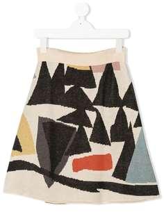 Wolf & Rita юбка Julia Variacoes с графичным узором