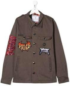 Philipp Plein Junior куртка-рубашка Parka Rock