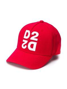 Dsquared2 Kids бейсболка с принтом D2
