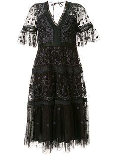 Needle & Thread декорированное платье с короткими рукавами