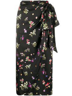 Andamane юбка с запахом и цветочным принтом