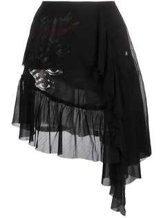 Diesel многослойная юбка из ткани жоржет