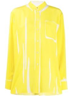 Paul Smith рубашка с абстрактным принтом