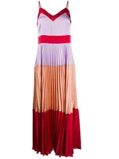 Twin-Set платье макси в стиле колор-блок