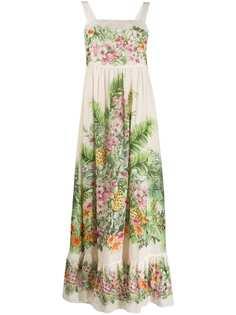 Twin-Set платье макси с цветочным принтом
