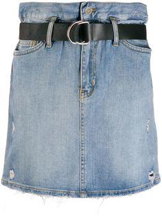 LIU JO юбка с завышенной талией и поясом