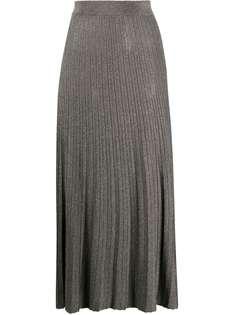 Roberto Collina трикотажная юбка миди с эффектом металлик