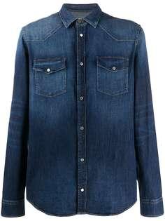 Dondup джинсовая рубашка с эффектом потертости