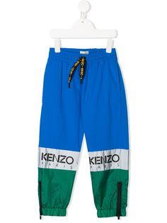 Kenzo Kids спортивные брюки в стиле колор-блок
