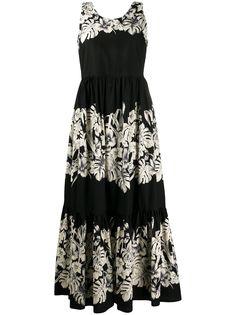 Twin-Set расклешенное платье макси без рукавов
