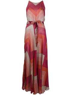 Twin-Set платье макси с узором зигзаг