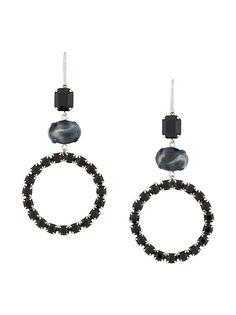Isabel Marant серьги-кольца с кристаллами