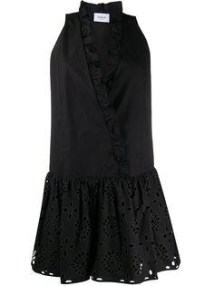 Dondup платье с приспущенной талией и оборками