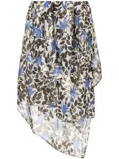 Christian Wijnants юбка асимметричного кроя с цветочным рисунком
