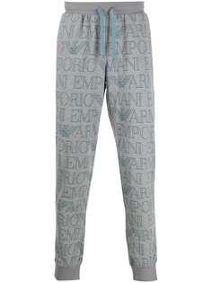 Emporio Armani спортивные брюки с логотипом