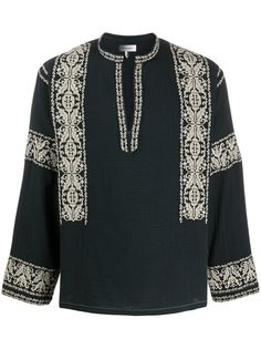 Isabel Marant блузка Piperi с вышивкой