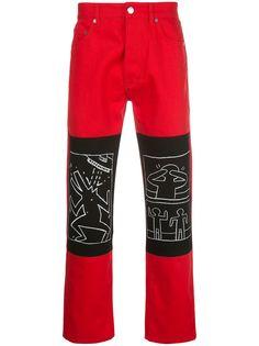 Etudes прямые джинсы с графичным принтом