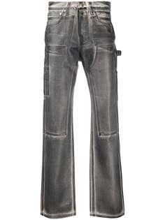 Helmut Lang джинсы с эффектом потертости