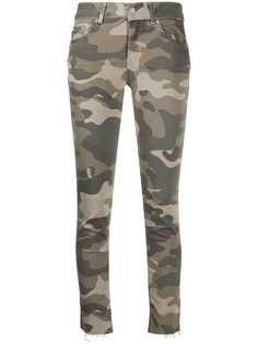 LIU JO укороченные камуфляжные брюки