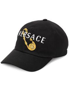 Versace бейсболка с вышитым логотипом