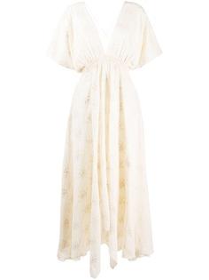 Mes Demoiselles платье макси с вышивкой