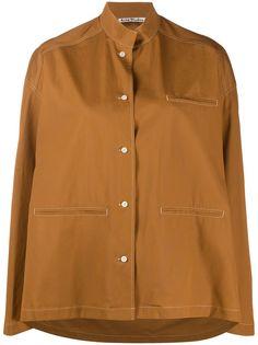 Acne Studios рубашка с воротником стойкой