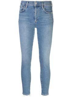 AGOLDE укороченные джинсы из вареного денима