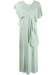Erika Cavallini длинное платье с драпировкой
