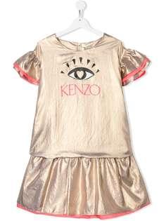 Kenzo Kids платье Eye с оборками и логотипом