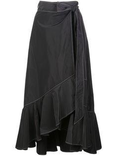 GANNI юбка асимметричного кроя с оборками