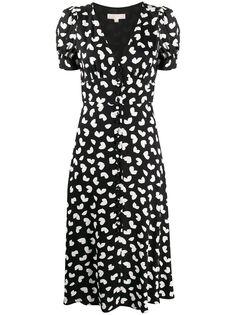 Michael Michael Kors платье миди с V-образным вырезом