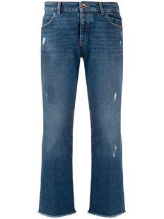 Emporio Armani укороченные джинсы с эффектом потертости