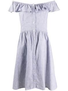 Michael Michael Kors платье-рубашка в полоску