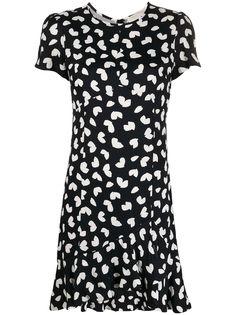 Michael Michael Kors платье с оборками и принтом
