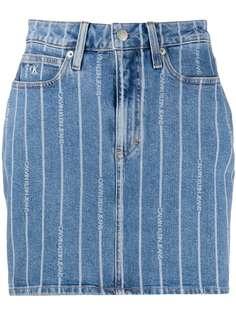 Calvin Klein Jeans юбка с контрастными полосками и логотипом