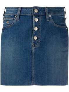 Calvin Klein Jeans джинсовая юбка с бахромой
