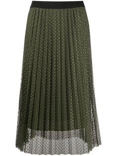 LIU JO плиссированная юбка из тюля