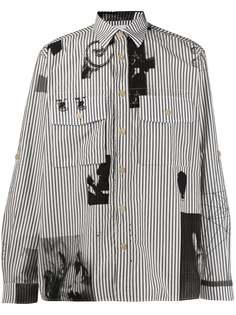 Paul Smith полосатая рубашка с принтом