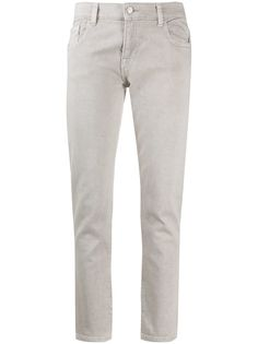 Emporio Armani джинсы с заниженной талией и логотипом