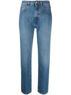 Moncler укороченные джинсы прямого кроя