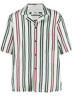 Acne Studios полосатая рубашка с короткими рукавами